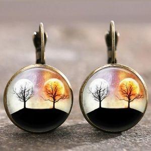 New Sun and Moon Celestial Bronze Earrings